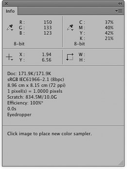how to open info panel photoshop